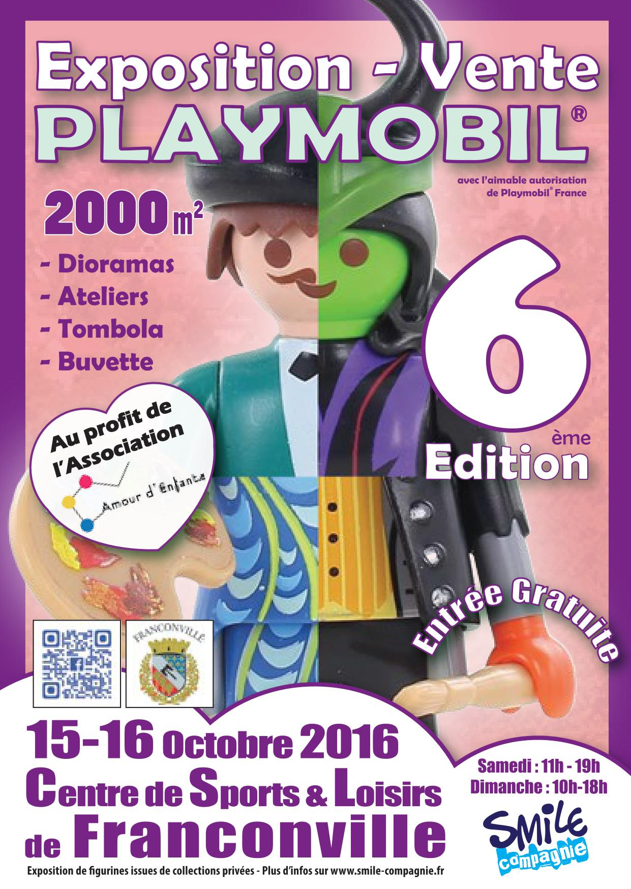 Flyer exposition Playmobil de Franconville 2016 - Recto