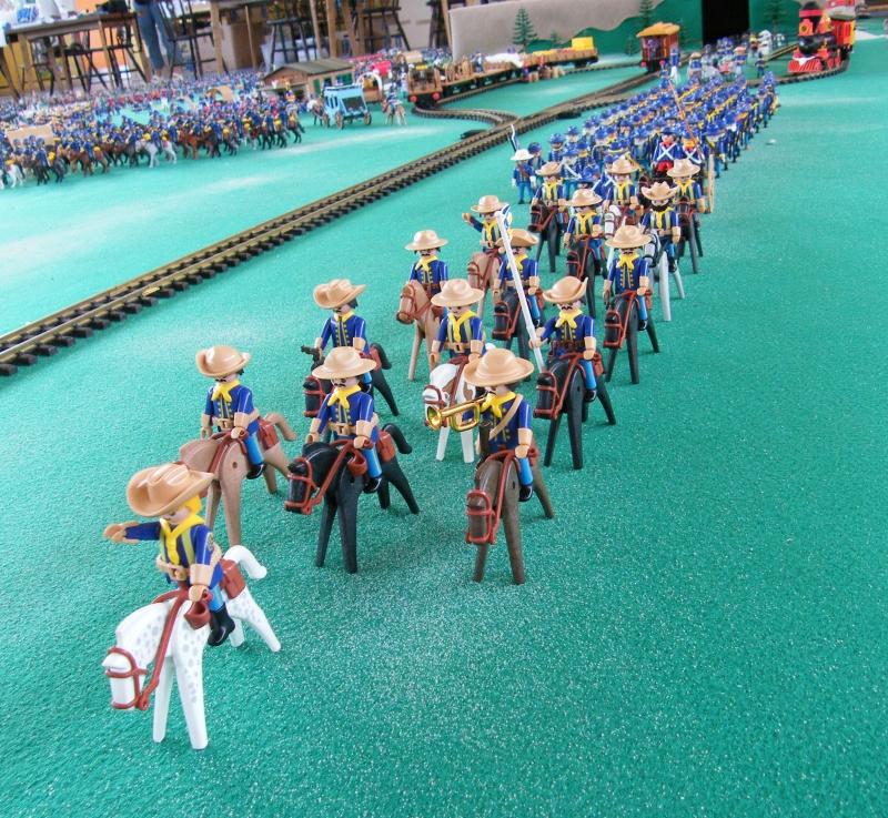 mes troupes nordistes Playmobil pour la tentative de record du monde de Vendeheim